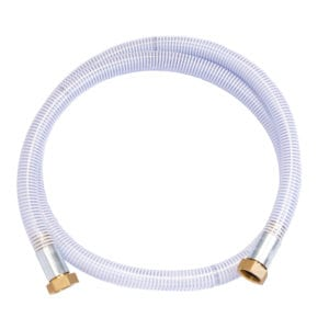 Apex Engineering 1.5'' diameter x 10' hose. Image of the hose coiled up.