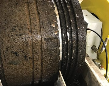 Centrifuge Cleaning Case Study. Image of a dirty centrifuge.